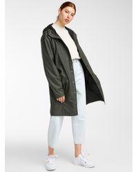 Rains Long Urban Raincoat - Green