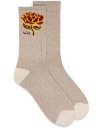 Vans Jacquard Rose Ribbed Socks - Multicolour