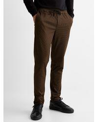 Jack & Jones Amber Houndstooth sweatpants - Brown