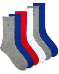 Tommy Hilfiger Solid Ribbed Socks 6 - Blue