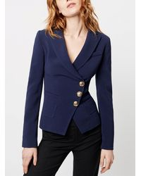 Smythe Wrap Jacket - Blue
