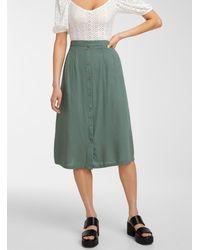 Vero Moda Buttoned Midi Skirt - Green