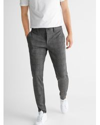 Only & Sons Chambray Check Mark Pant Slim Fit - Gray