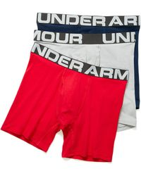 Under Armour Performance Jersey Boxer Brief 3 - Blue