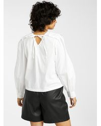 ONLY Broderie Anglaise Mega - White