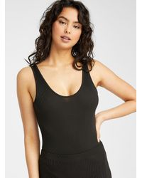 Vero Moda Ribbed Bodysuit - Black