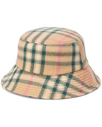 Vero Moda Plaid Bucket Hat - Brown