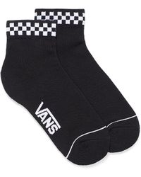 Vans Check Trim Ankle Socks - Black