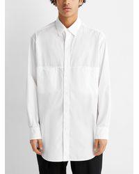 Yohji Yamamoto - Crisp Poplin Long White Shirt - Lyst