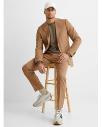 Tiger Of Sweden Jamonte Natural Chambray Suit Slim Fit - Brown