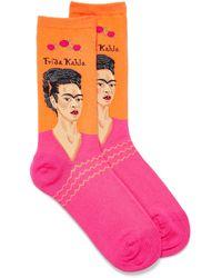 Hot Sox Frida Khalo Pop Socks - Orange