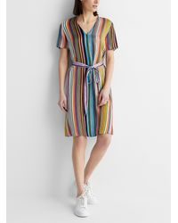 PS by Paul Smith - Super Stripe Belted V - Lyst