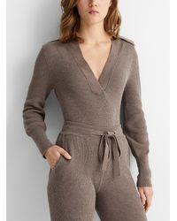 Nanushka Dane Knit Bodysuit - Brown