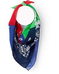 Polo Ralph Lauren Patchwork Bandana Scarf - Multicolour