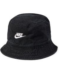 Nike Washed Heritage86 Futura Bucket Hat - Black