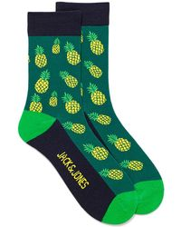 Jack & Jones Bright Tropical Fruit Socks - Green