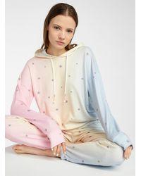Pj Salvage Peachy Party Hooded Sweatshirt - Multicolour