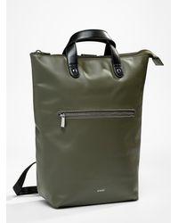 Anello Portrait Tote Backpack - Green