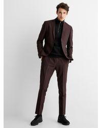Tiger Of Sweden Jules Burgundy Suit Slim Fit - Multicolour