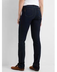PAIGE Dark Indigo Hoxton Straight Jean - Blue