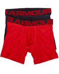 Under Armour Tech Boxerjock Boxer Brief 2 - Red
