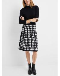 HUGO Sieny Houndstooth Knit Dress - Black