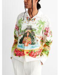 CASABLANCA Kamehamea Poplin Shirt - White