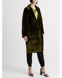Unttld Vasili Cocoon Coat - Green