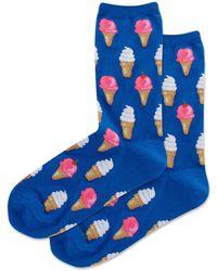 Hot Sox Ice Cream Cone Socks - Blue