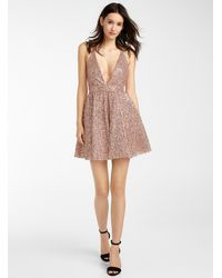 Icône Pink Sequin Crinoline Dress
