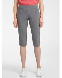 Columbia Anytime Casual Stretch Capris - Gray
