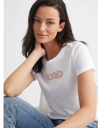 HUGO Embossed Logo T - White