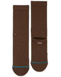 Stance Vivid Orange Icon Crew Socks - Brown