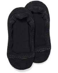 Calvin Klein Lace Trimmed Foot Liner - Black