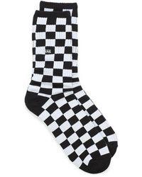 Vans Checkerboard Ribbed Socks - Black