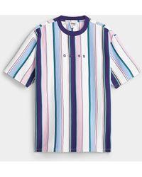 Guess Pastel Stripe Logo T - Blue