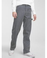 Stan Ray Striped Painter Pant Straight Fit - Blue