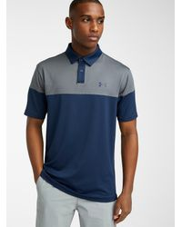 Under Armour Ultra-soft Two-tone Polo (men, Blue, Large)