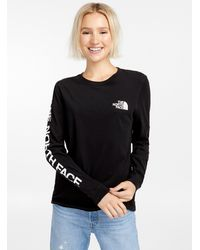 The North Face Long Sleeve Logo T - Black