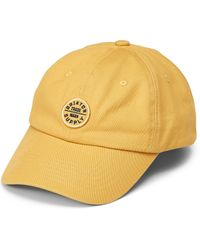 Brixton Oath Dad Cap - Yellow