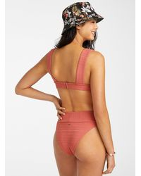 Rip Curl Embossed Coral Small Bikini - Red