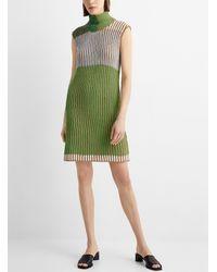 Eckhaus Latta Open Back Knit Dress - Green