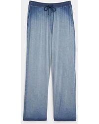Daniel Buchler Ultra Faded Lounge Pant - Blue