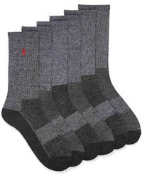 Polo Ralph Lauren Grey Combo Ribbed Socks 6
