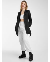 Vero Moda Belted Cropped Trench Coat - Black