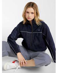 adidas Originals Japona Striped Denim Jacket - Blue