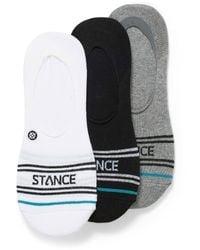Stance Contrast Logo Ped Socks 3 - White