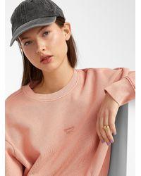 Reebok Rose Petal Loose Sweatshirt - Red