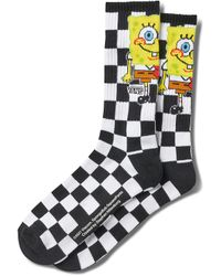Vans Spongebob Checkerboard Ribbed Socks - White