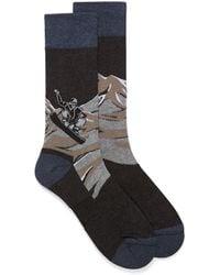 Bugatchi Mountain Snowboard Sock - Multicolor